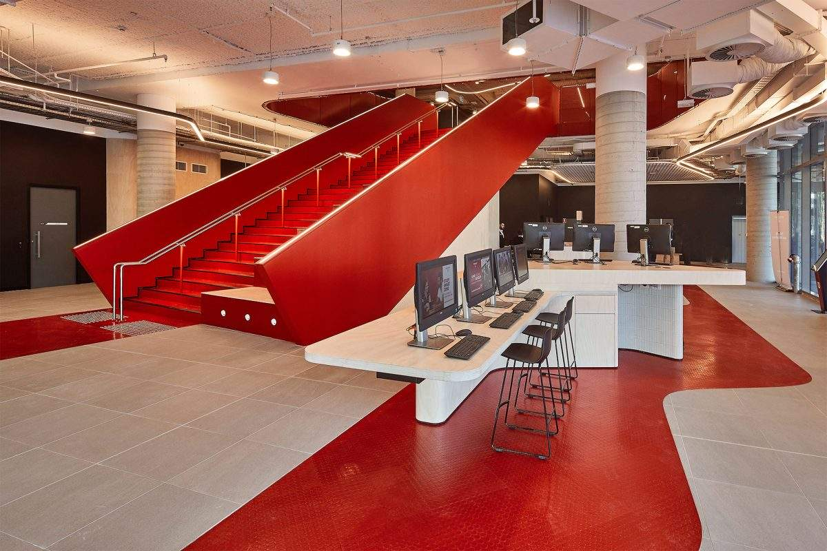 Pavimenti interni moderni di design - University of Western Sydney Liverpool Campus